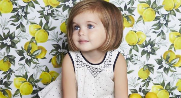 vestido blanco y negro para nenas Little Akiabara verano 2015