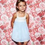 vestido celeste para nena Little Akiabara verano 2015