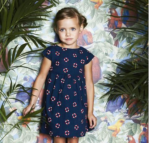 vestido estilo marinero Little Akiabara verano 2015