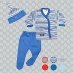 conjunto para bebe azul a rayas Gamise otoño invierno 2015