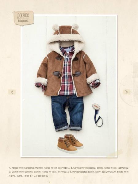 abrigo bebe invierno 2015 - minimimo
