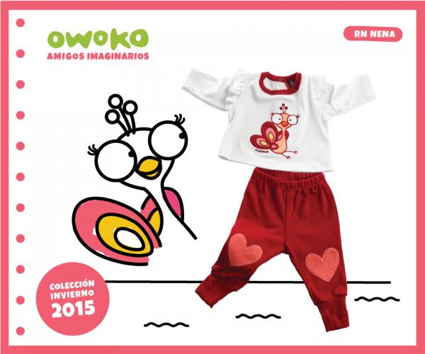 batita y pantalon recien nacido OWOKO otoño invierno 2015