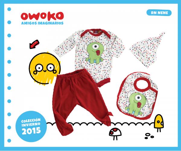body babero gorrito recien nacido OWOKO otoño invierno 2015