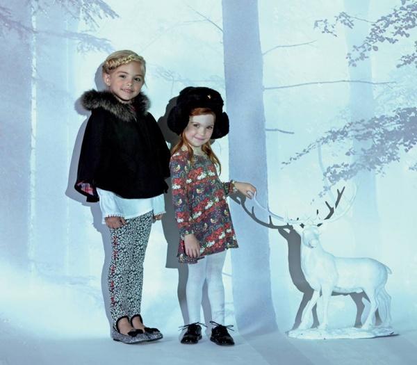 calzas y poncho peludo Nucleo Moda Nenas otoño invierno 2015