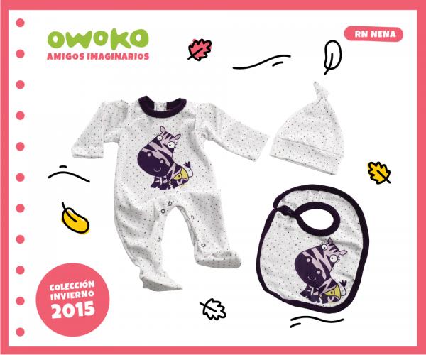 conjunto cebra recien nacido OWOKO otoño invierno 2015