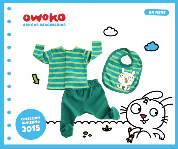 conjunto verde recien nacido OWOKO otoño invierno 2015