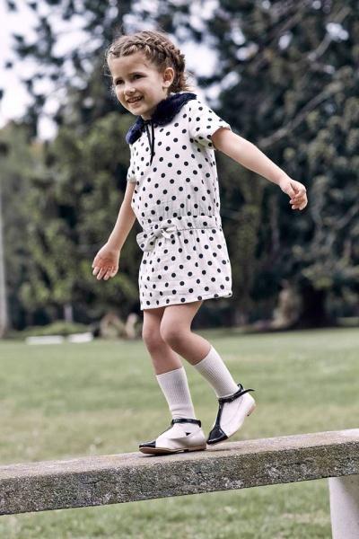 vestido a lunares nena Paula Cahen D Anvers Niños  otoño invierno 2015