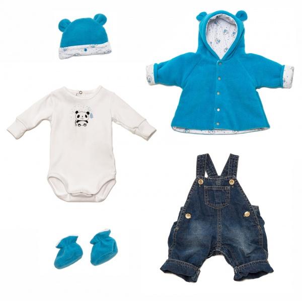 Grisino bebe - enterito de jeans y campera de plus invierno 2015