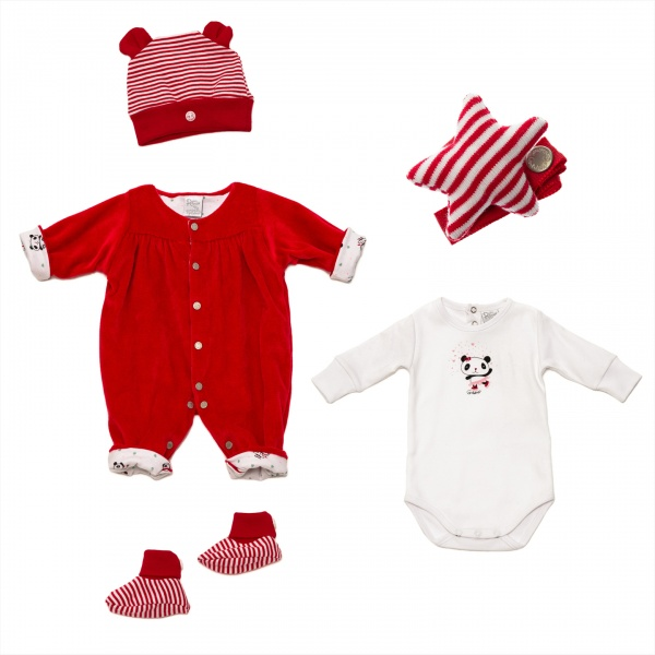 Grisino bebe enterito rojo de plus invierno 2015