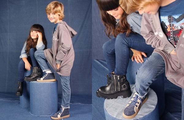botas negras para nenas  - Ferli calzados invierno 2015