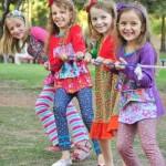 calzas y remeras estampadas para nenas vestido estampado mangas largas nenas otoño invierno 2015 Zukutrule