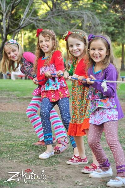 calzas y remeras estampadas para nenas vestido estampado mangas largas nenas otoño invierno 2015 - Zukutrule