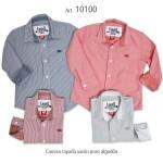 camisa a rayas para nene Emmo otoño invierno 2015