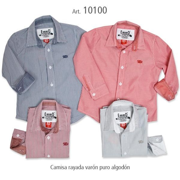 camisa a rayas para nene - Emmo otoño invierno 2015