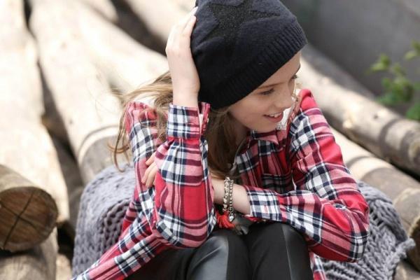 camisa escocesa Pioppa Moda infantil invierno 2015