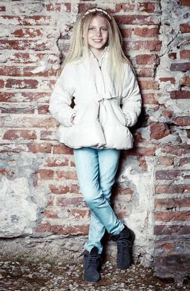 camperon rosado palido para nenas - Mapamondo invierno 2015