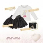pollera negra corta para niñas invierno 2015 ANAVANA