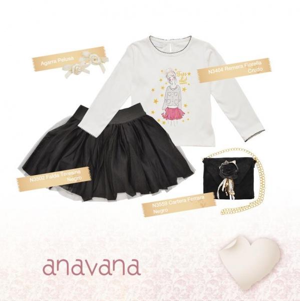 pollera negra corta para niñas invierno 2015 - ANAVANA