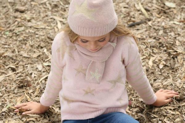 sweater tejido nenas Pioppa - Moda infantil invierno 2015