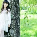 vestido blanco y dorado para niñas invierno 2015 ANAVANA