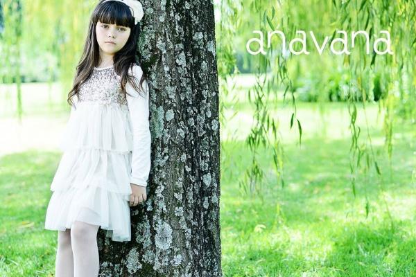 vestido blanco y dorado para niñas invierno 2015 - ANAVANA