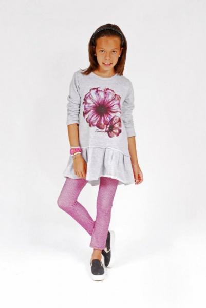 vestido con calzas para nenas  invierno 2015 - TIPOTEO