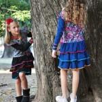 vestido con volados mangas largas nenas otoño invierno 2015 Zukutrule