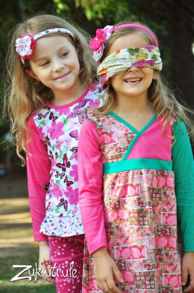 vestido estampado mangas largas nenas otoño invierno 2015 Zukutrule