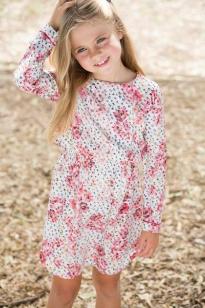vestido mangas largas nenas Pioppa Moda infantil invierno 2015