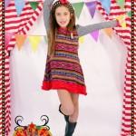 vestido mix estampa para nenas otoño invierno 2015 Dilo tu ropa divertida