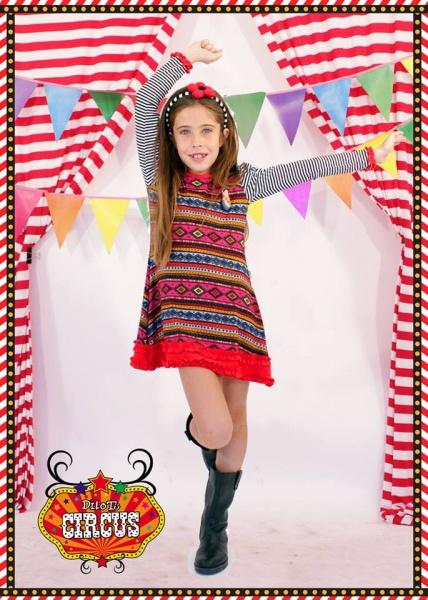 vestido mix estampa para nenas otoño invierno 2015 - Dilo tu ropa divertida