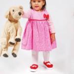 vestido rosado para bebes invierno 2015 TIPOTEO