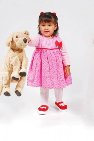 vestido rosado para bebes  invierno 2015 - TIPOTEO