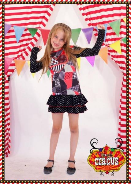 vestidos con volados para nenas otoño invierno 2015 - Dilo tu ropa divertida
