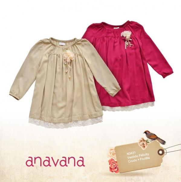 vestidos mangas largas para bebes para niñas invierno 2015 - ANAVANA