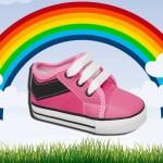 zapatillas rosadas para bebes lona invierno 2015 Plumitas
