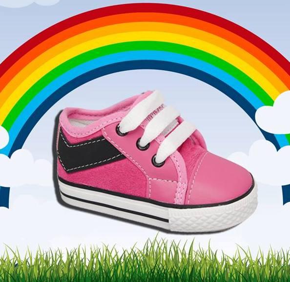 zapatillas rosadas para bebes  lona invierno 2015 - Plumitas