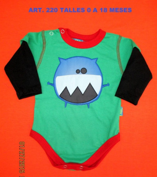 body mangas largas para bebe - flow kids invierno 2015