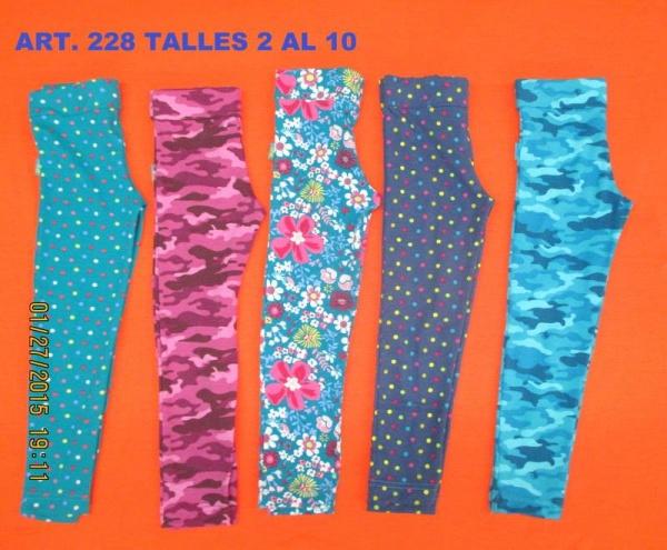 calzas estampadas para nenas - flow kids invierno 2015