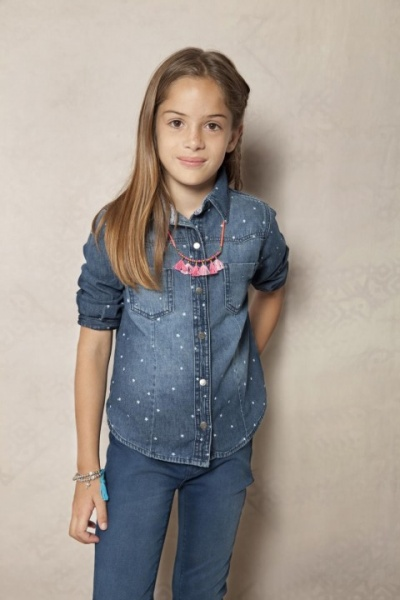 a4642af9c3460 camisa de jeans para nenas Rapsodia Kids invierno 2015 – Minilook