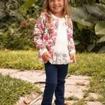 cardigans estampado y blusa encaje para niñas Magdalena Esposito otoño invierno 2015