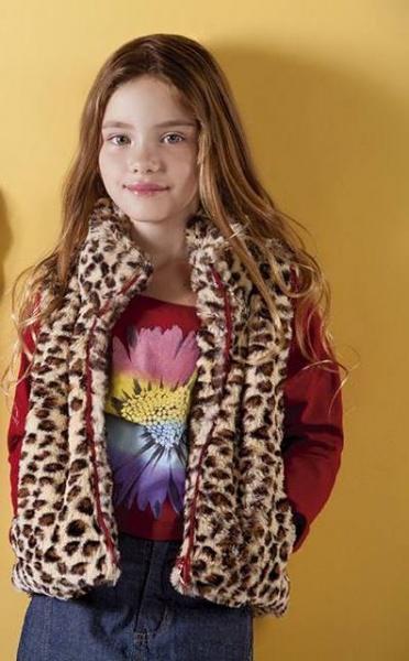 chaleco animal print para nenas otoño invierno 2015 - B WAY