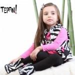 chaleco cebra para nenas Tepin tepan otoño invierno 2015