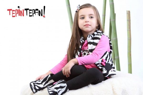 chaleco cebra para nenas - Tepin tepan otoño invierno 2015