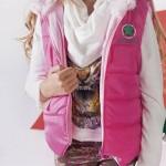 chaleco rosa para nenas otoño invierno 2015 B WAY
