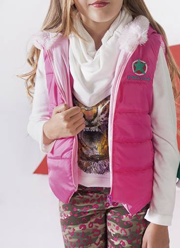chaleco rosa para nenas otoño invierno 2015 - B WAY