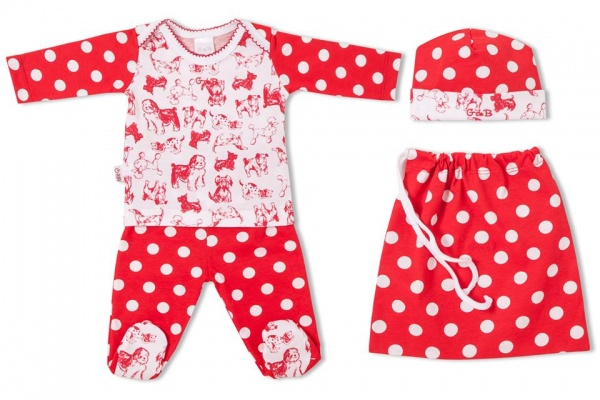 conjunto estampado para bebe nena GdeB - moda para bebes invierno 2015