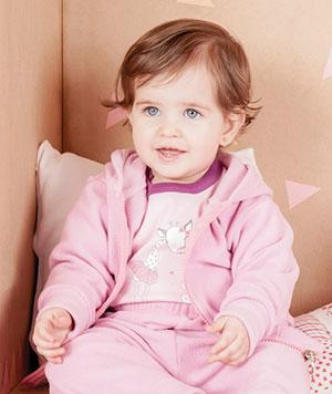 conjunto micropolar para bebe nena Naranjo otoño invierno 2015