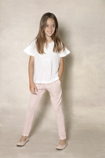 jeans rosado y blusa blanca  para nenas - Rapsodia Kids invierno 2015