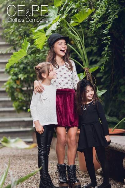 moda para fiestas nenas  otoño invierno 2015 CE PE